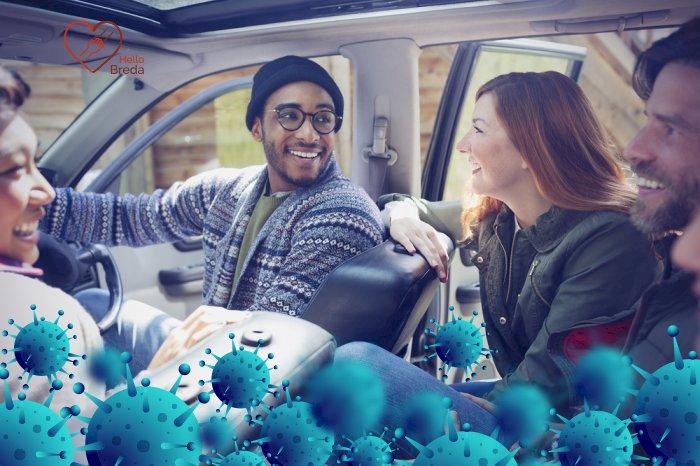 Met wie mag je in de auto?